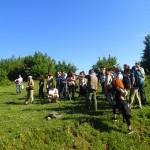 Наблюдение на лешояди по време на теренно посещение на Природен парк Врачански Балкан с Георги Стоянов от Дружеството за защита на хищните птици